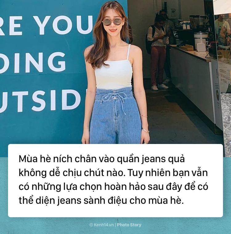 4 kiểu quần jeans bạn tha hồ diện vào mùa hè mà không lo nóng bức - Ảnh 1.