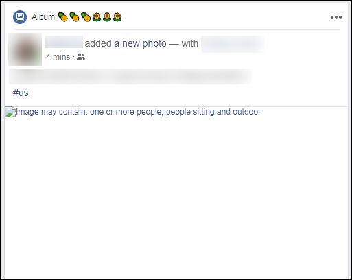Facebook does not return to display the image, the white frame is