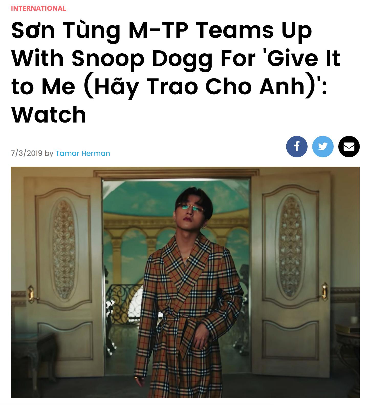 Không ai khác chính Sơn Tùng: Sao Việt đầu tiên được trang âm nhạc lớn nhất thế giới Billboard đưa tin riêng - Ảnh 1.