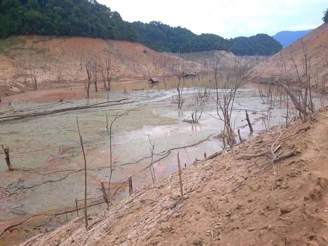 Lòng hồ lớn nhất Bắc Trung Bộ cạn trơ đáy, dân phải lội bùn cả cây số để đi - Ảnh 5.