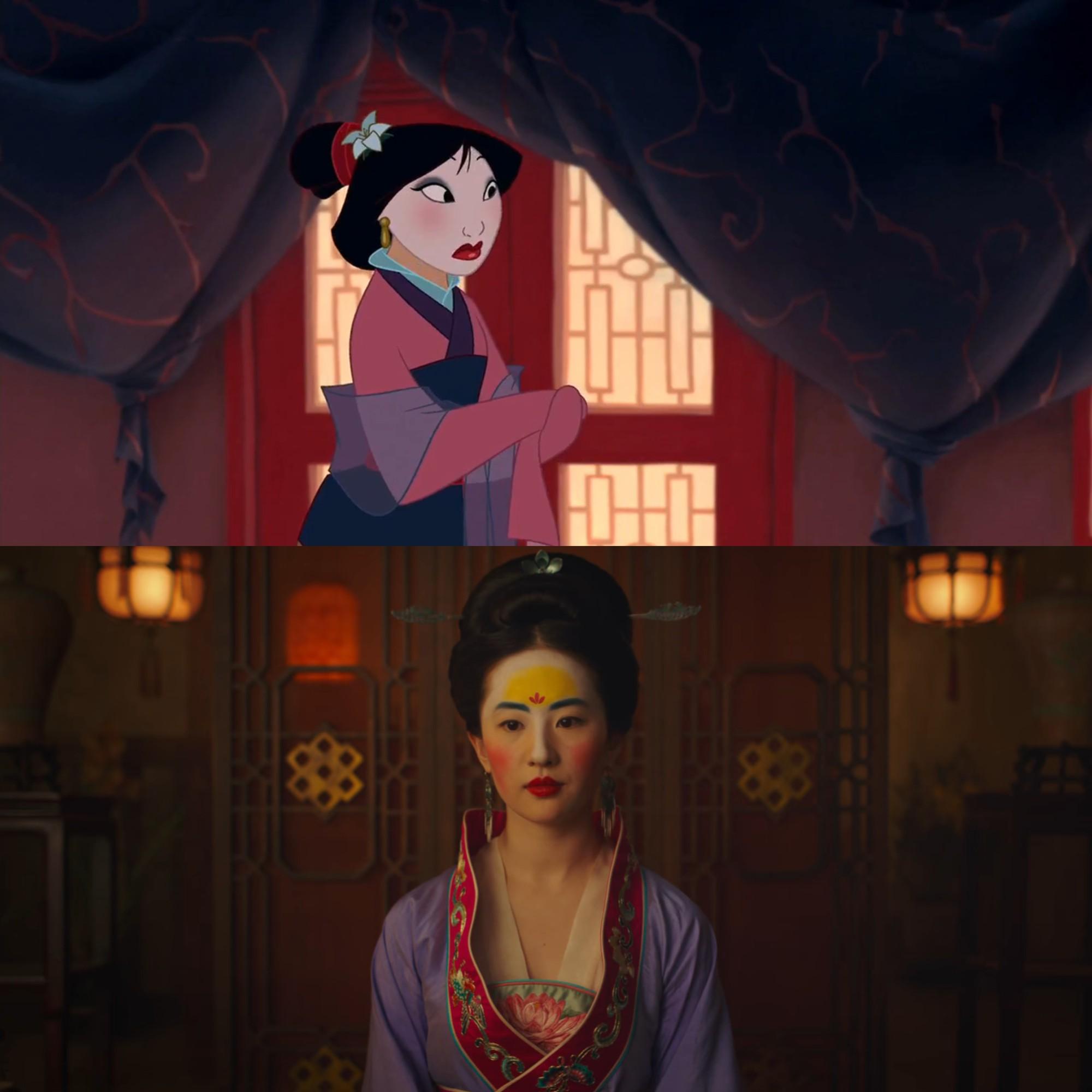 Mulan của Lưu Diệc Phi với bản gốc hoạt hình: Giống nhau đến từng khung ảnh! - Ảnh 9.