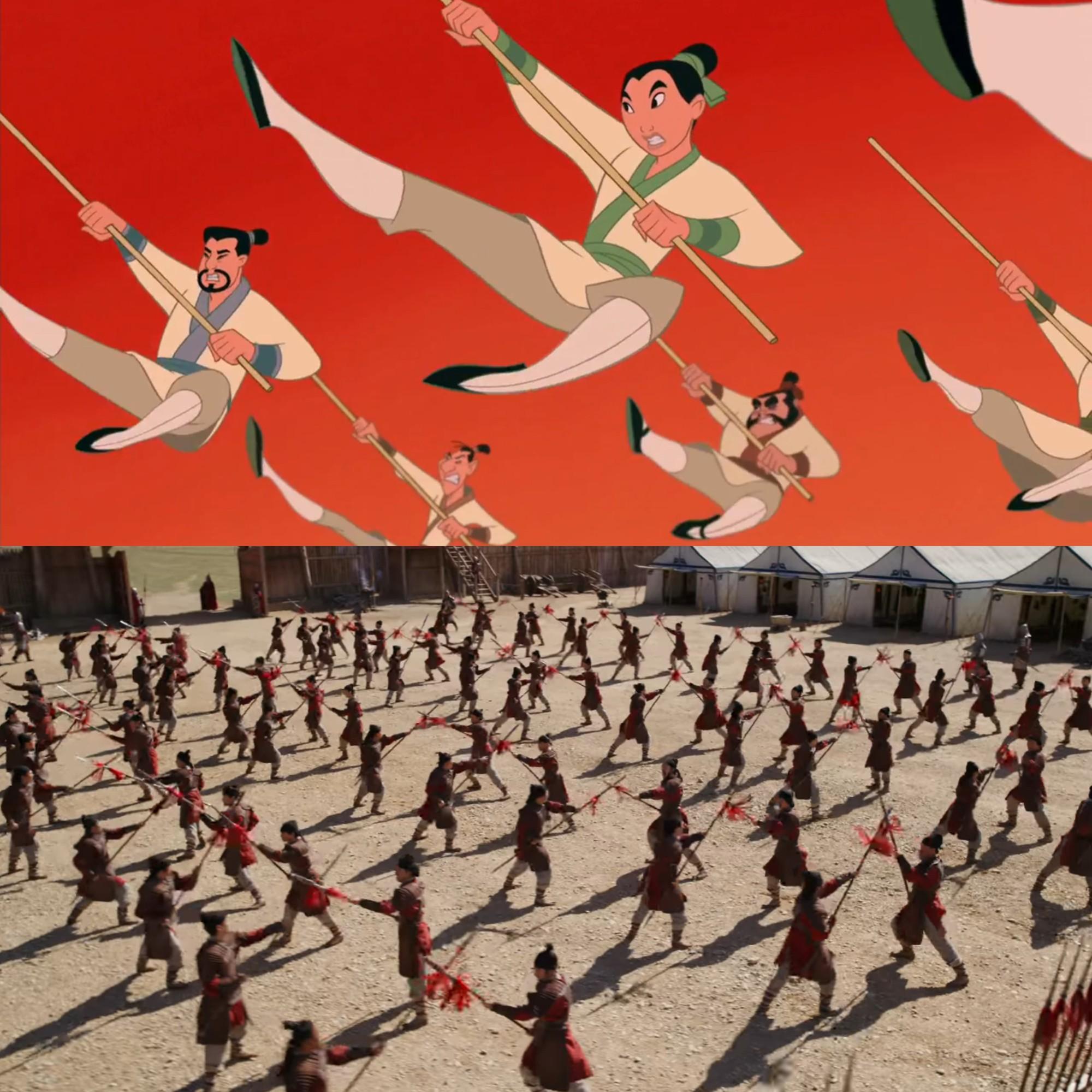 Mulan của Lưu Diệc Phi với bản gốc hoạt hình: Giống nhau đến từng khung ảnh! - Ảnh 12.