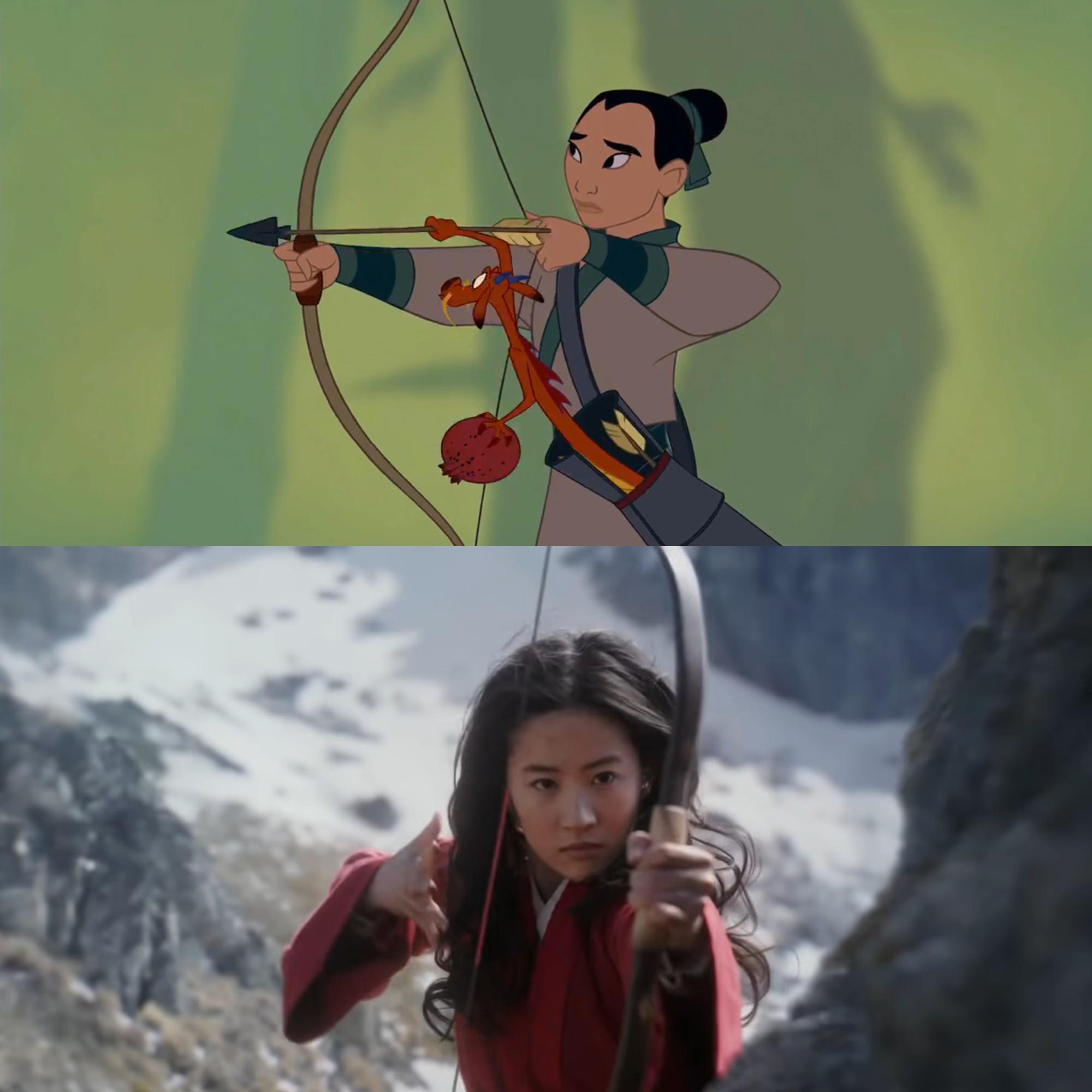 Mulan của Lưu Diệc Phi với bản gốc hoạt hình: Giống nhau đến từng khung ảnh! - Ảnh 15.