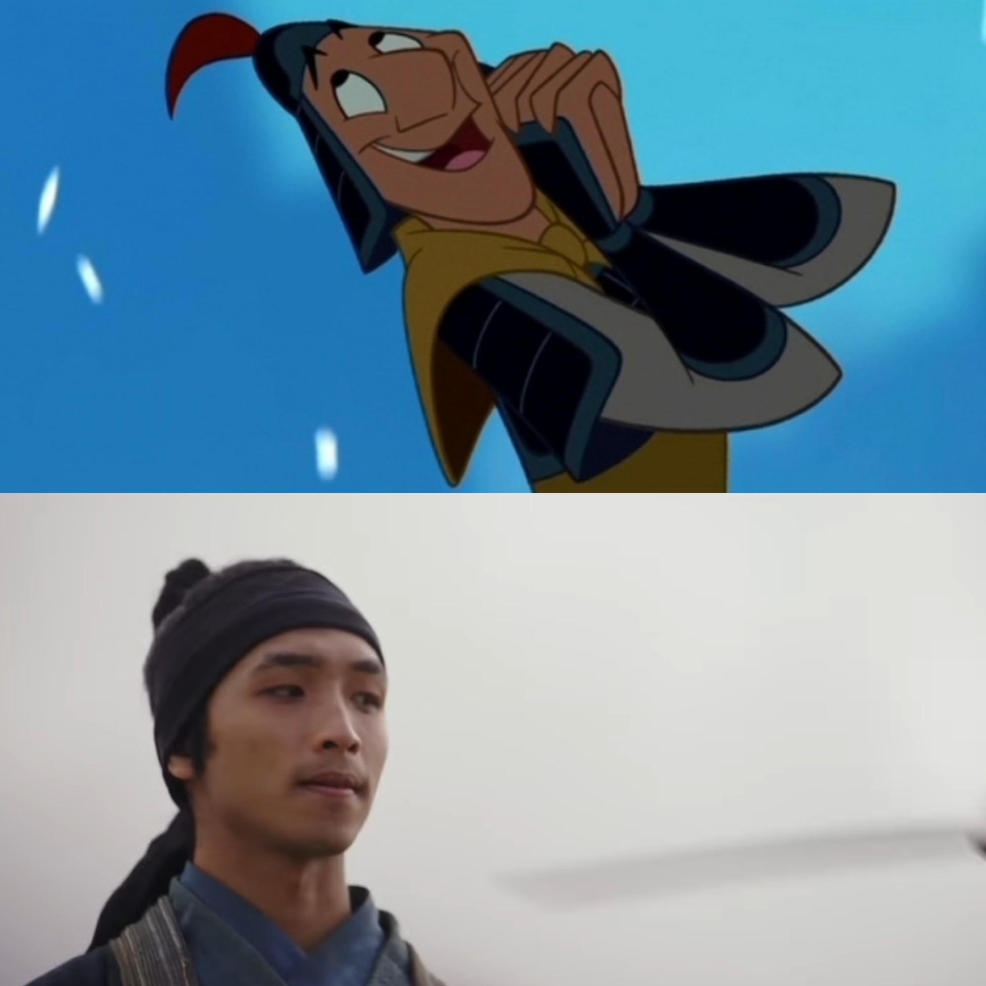 Mulan của Lưu Diệc Phi với bản gốc hoạt hình: Giống nhau đến từng khung ảnh! - Ảnh 6.