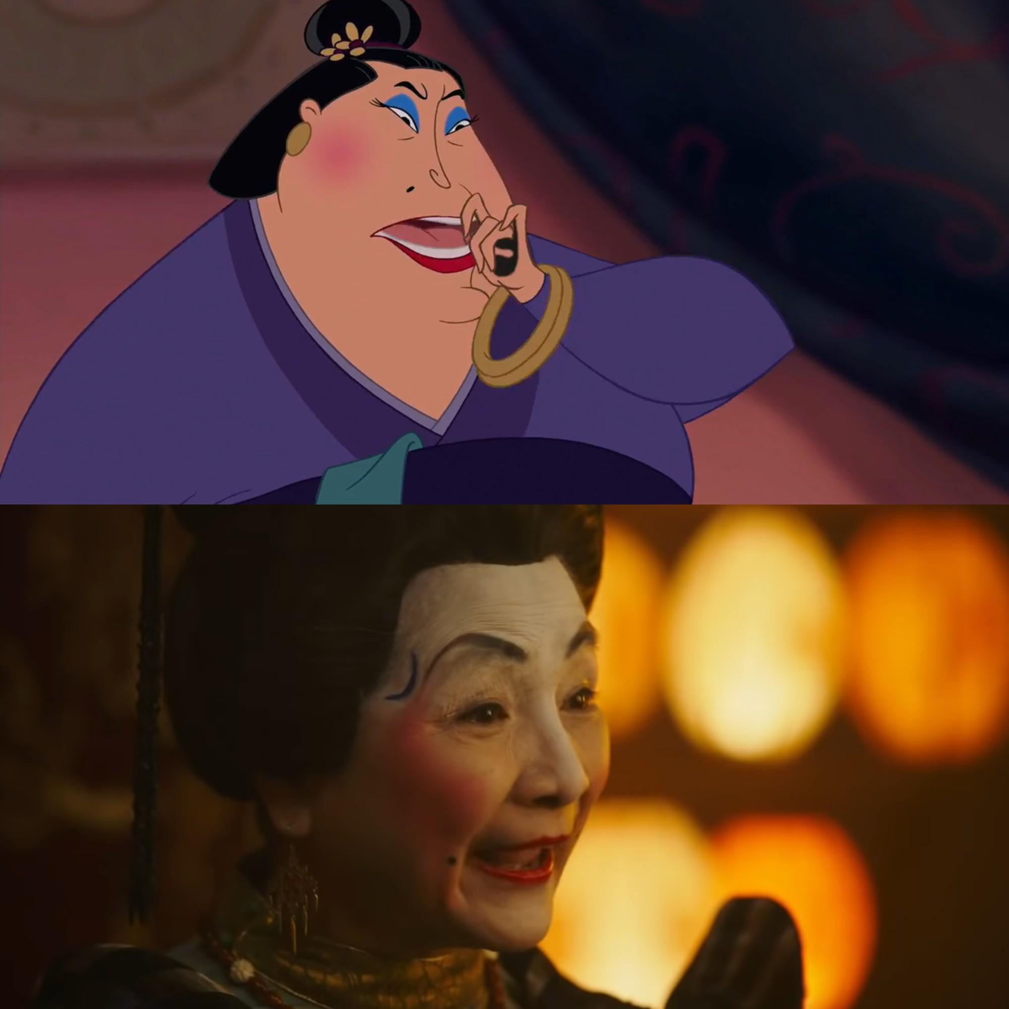 Mulan của Lưu Diệc Phi với bản gốc hoạt hình: Giống nhau đến từng khung ảnh! - Ảnh 4.
