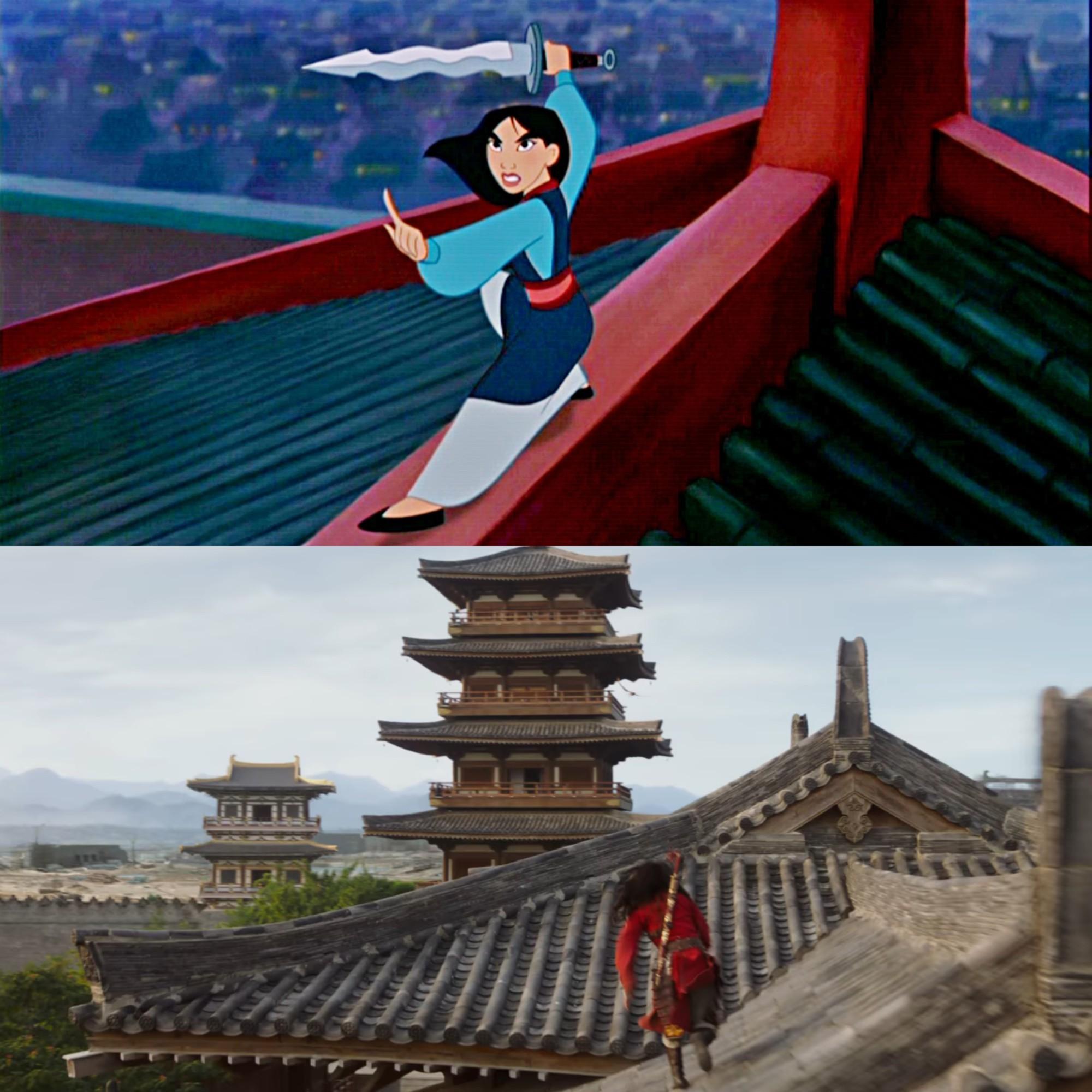 Mulan của Lưu Diệc Phi với bản gốc hoạt hình: Giống nhau đến từng khung ảnh! - Ảnh 16.