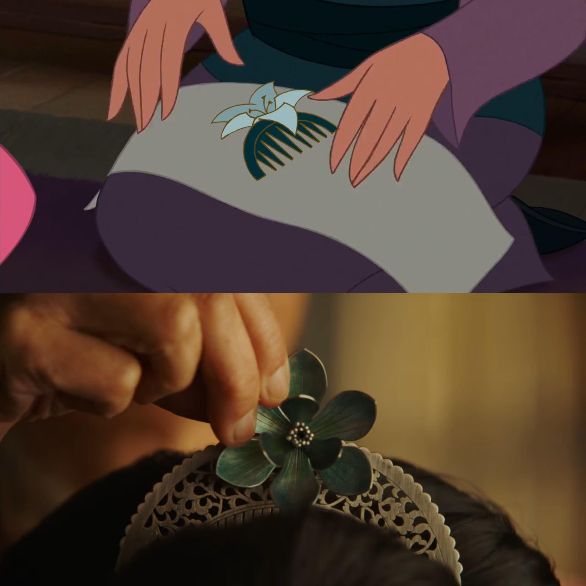 Mulan của Lưu Diệc Phi với bản gốc hoạt hình: Giống nhau đến từng khung ảnh! - Ảnh 10.