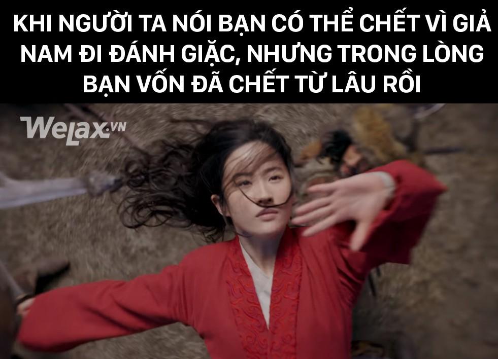 Đơ y chang biểu cảm cô Tấm ngã cây của Hạ Vi đã đành, Lưu Diệc Phi trong Mulan còn tặng khán giả nhiều meme hơn thế - Ảnh 4.