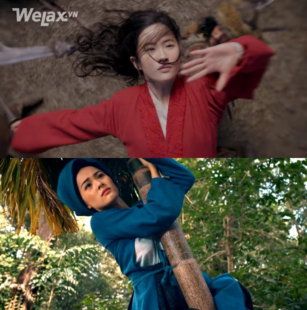 Đơ y chang biểu cảm cô Tấm ngã cây của Hạ Vi đã đành, Lưu Diệc Phi trong Mulan còn tặng khán giả nhiều meme hơn thế - Ảnh 2.