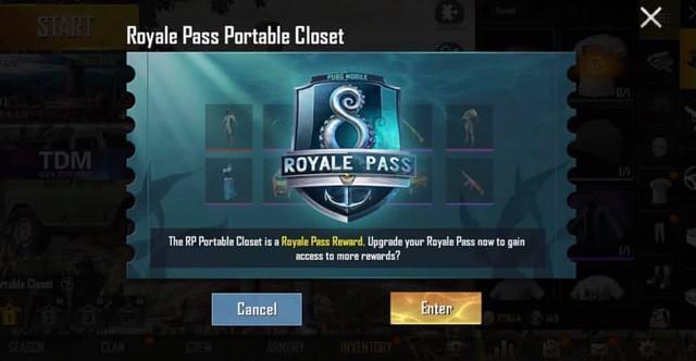 PUBG Mobile: Hé lộ phần thưởng Royale Pass mùa 8 gồm set