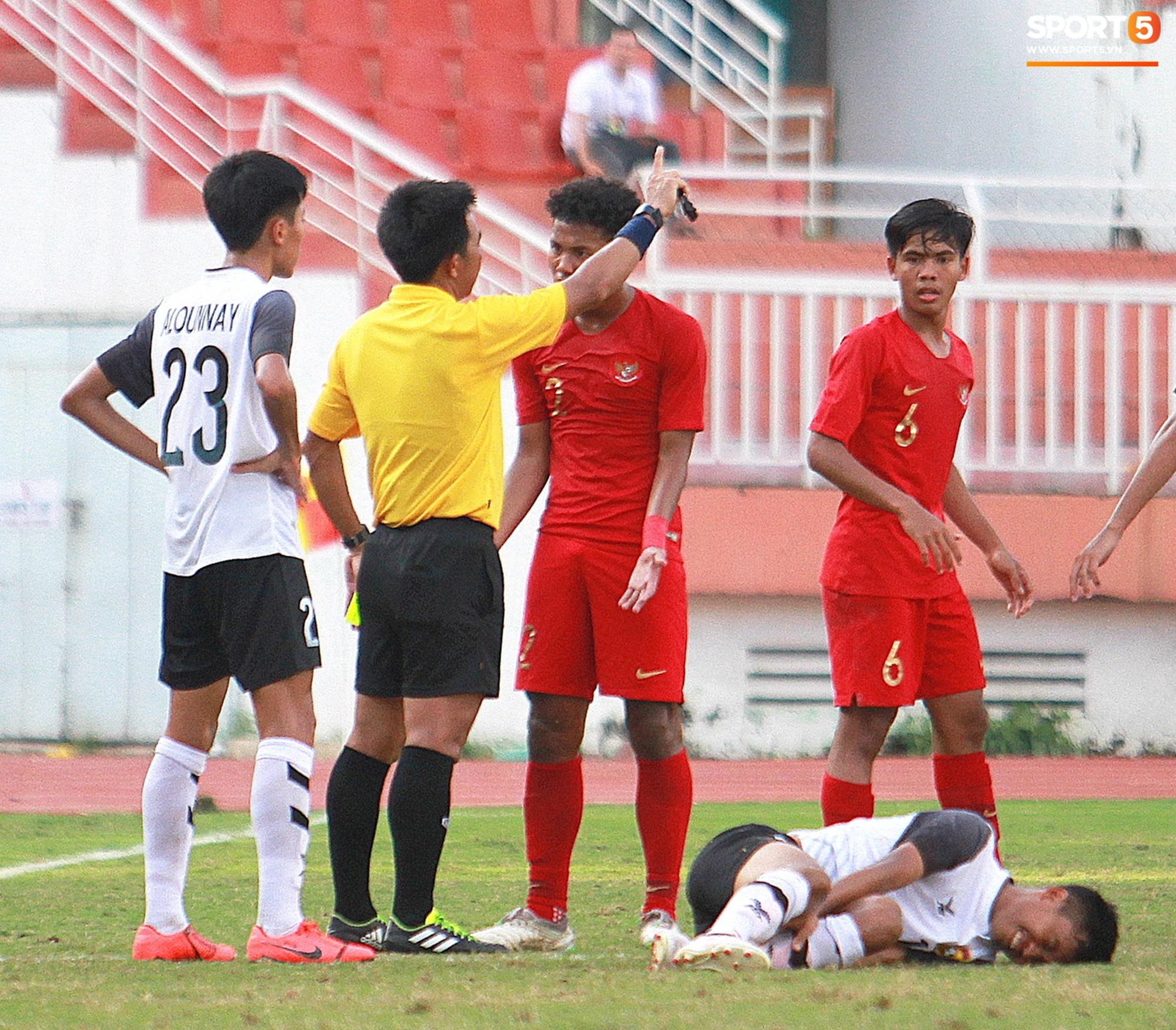 Indonesia U18 Vs Laos: Cầu Thủ U18 Lào Lao Vào Xô Xát Với đối Phương Ngay Sau