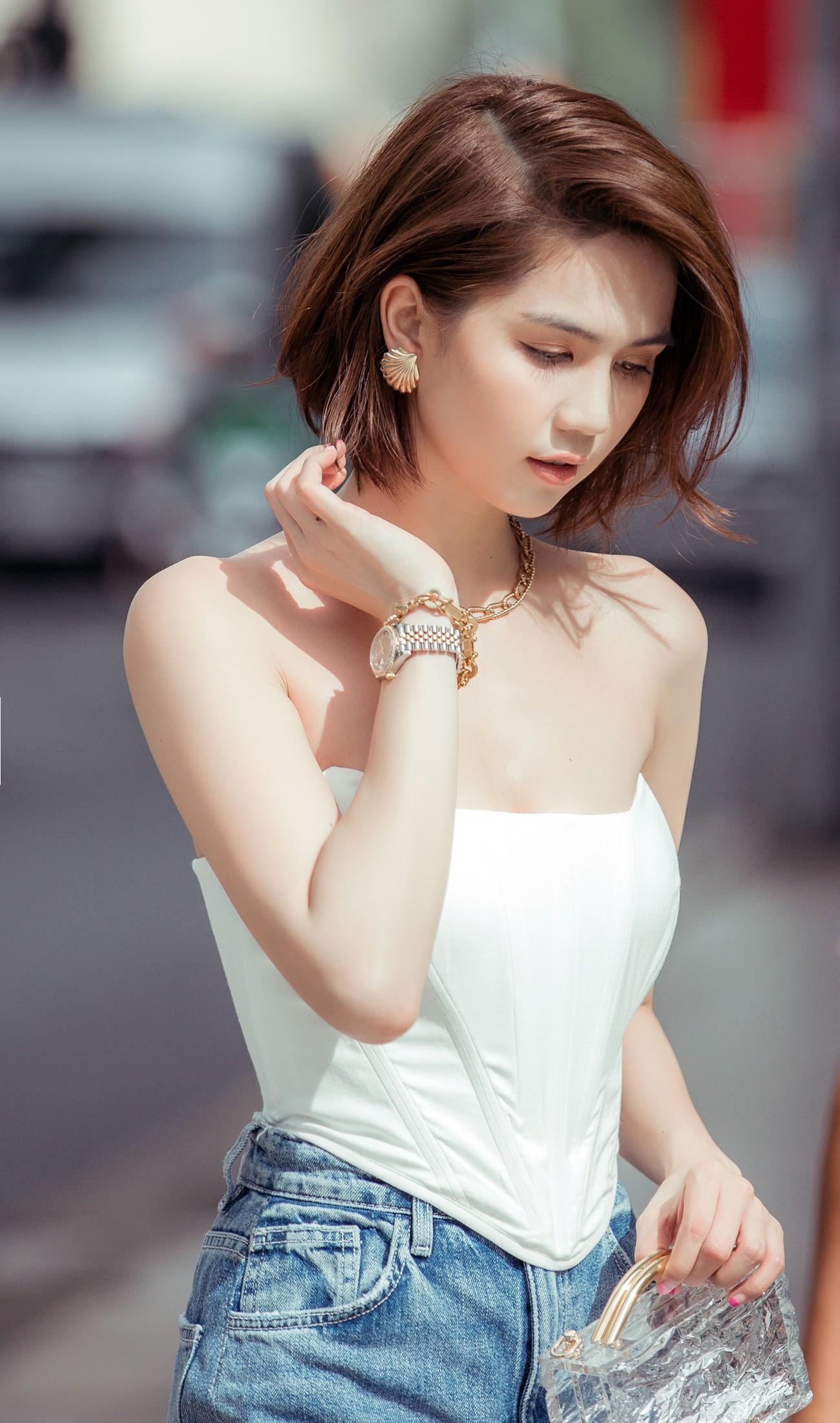 VZN News: Đâu cần hở bạo, Ngọc Trinh tóc ngắn kín đáo xuống phố cũng đủ khiến dân tình thổn thức vì quá sang - Ảnh 9.