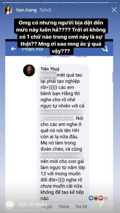"""VZN News: Hàn Hằng phản pháo tin đồn mẹ cho tiền sửa ngực từ lớp 12 để nổi tiếng: """"Sao mọi người ác ý quá vậy?"""" - Ảnh 4."""
