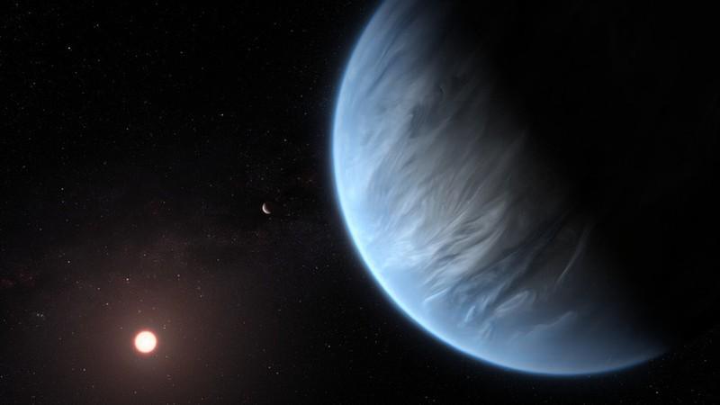 Hình ảnh đồ họa của hành tinh K2-18b. Ảnh: ESA