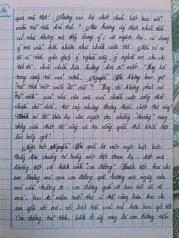 VZN News: Nam sinh gây sốt với bài văn dài 18 trang, cô giáo đọc xong không biết phải phê gì vì quá xuất sắc! - Ảnh 12.