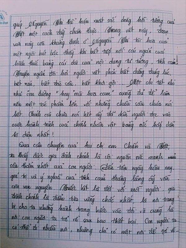 VZN News: Nam sinh gây sốt với bài văn dài 18 trang, cô giáo đọc xong không biết phải phê gì vì quá xuất sắc! - Ảnh 15.
