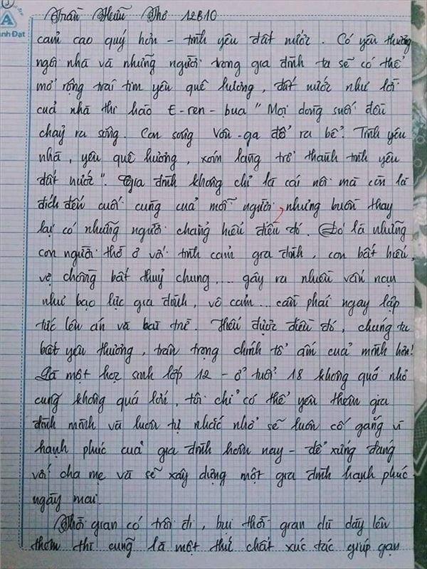 VZN News: Nam sinh gây sốt với bài văn dài 18 trang, cô giáo đọc xong không biết phải phê gì vì quá xuất sắc! - Ảnh 18.
