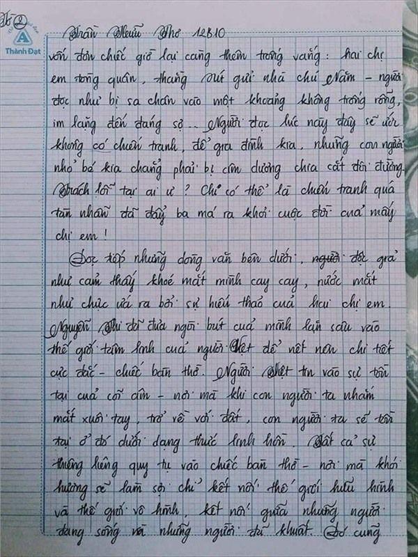 VZN News: Nam sinh gây sốt với bài văn dài 18 trang, cô giáo đọc xong không biết phải phê gì vì quá xuất sắc! - Ảnh 6.