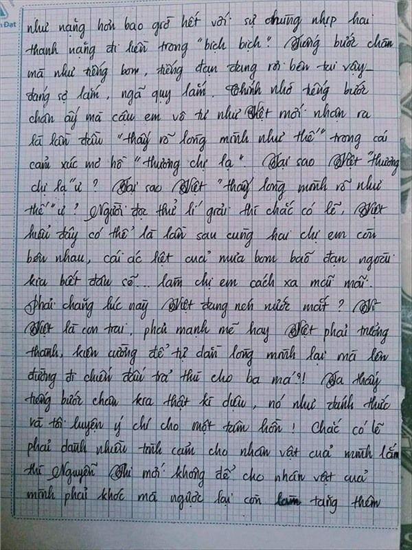 VZN News: Nam sinh gây sốt với bài văn dài 18 trang, cô giáo đọc xong không biết phải phê gì vì quá xuất sắc! - Ảnh 9.