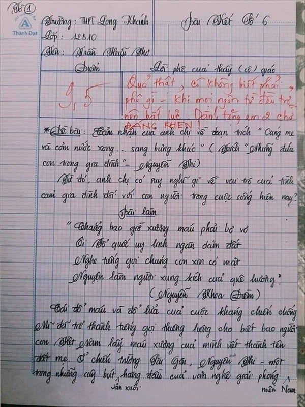 VZN News: Nam sinh gây sốt với bài văn dài 18 trang, cô giáo đọc xong không biết phải phê gì vì quá xuất sắc! - Ảnh 1.