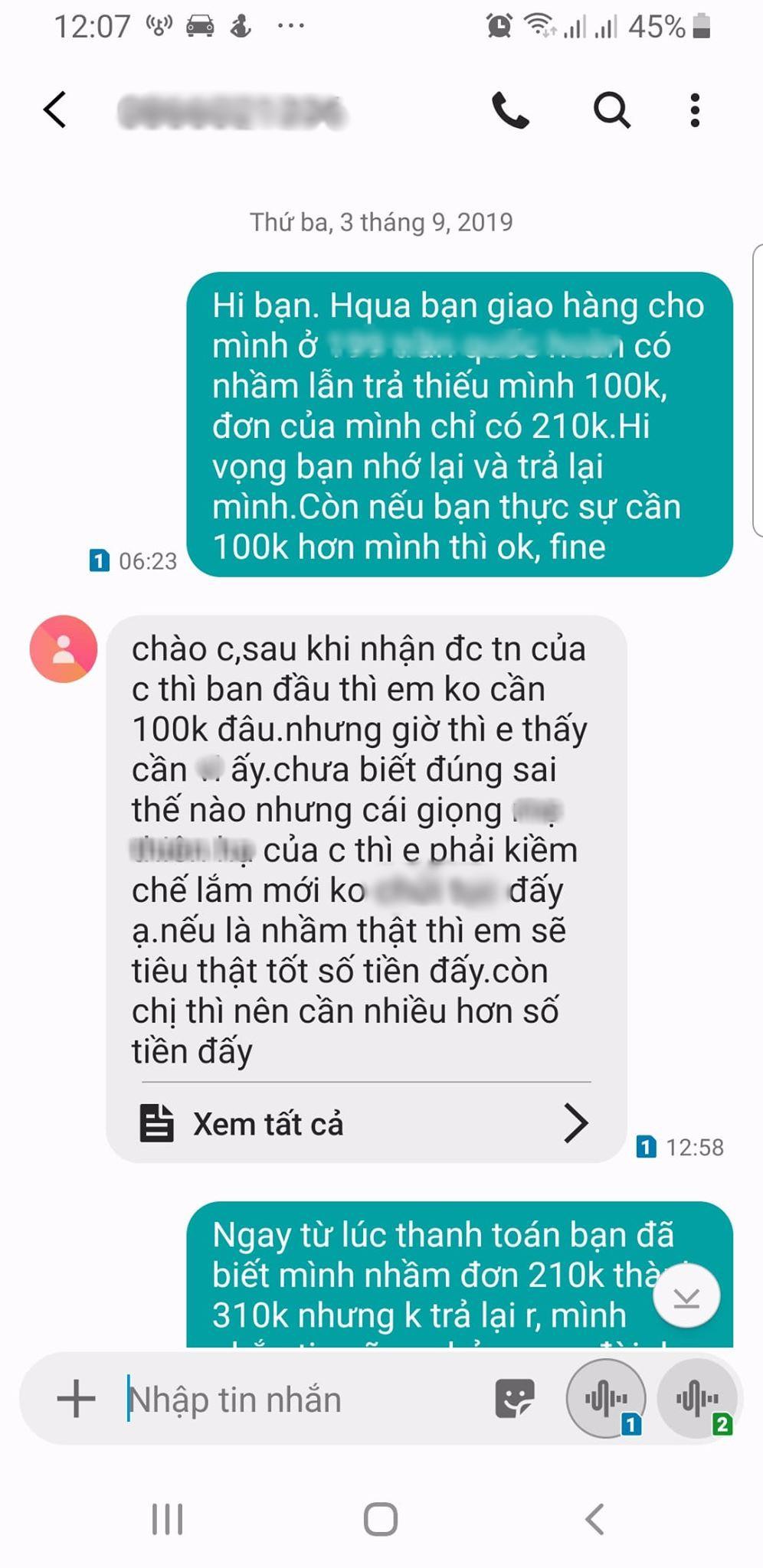 VZN News: Mỉa mai shipper ăn quỵt 100k, cô gái nhận được tin nhắn phản dame: Cái giọng của chị khiến em muốn tiêu thật tốt số tiền ấy, nếu có nhầm thật! - Ảnh 3.