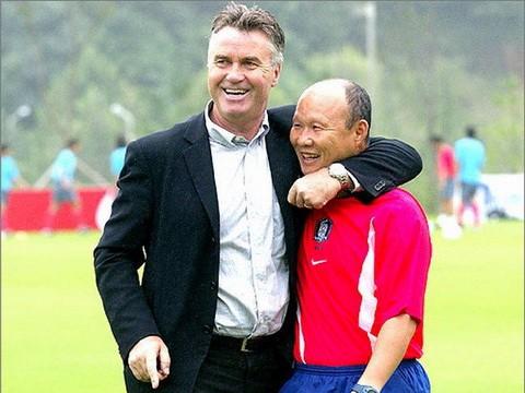 HLV Guus Hiddink có mối quan hệ đặc biệt với HLV Park Hang-seo. Ảnh: Chosun.