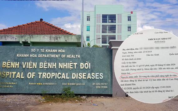 Bé gái 10 tuổi tử vong vì bệnh cúm ở Khánh Hòa không phải do virus corona