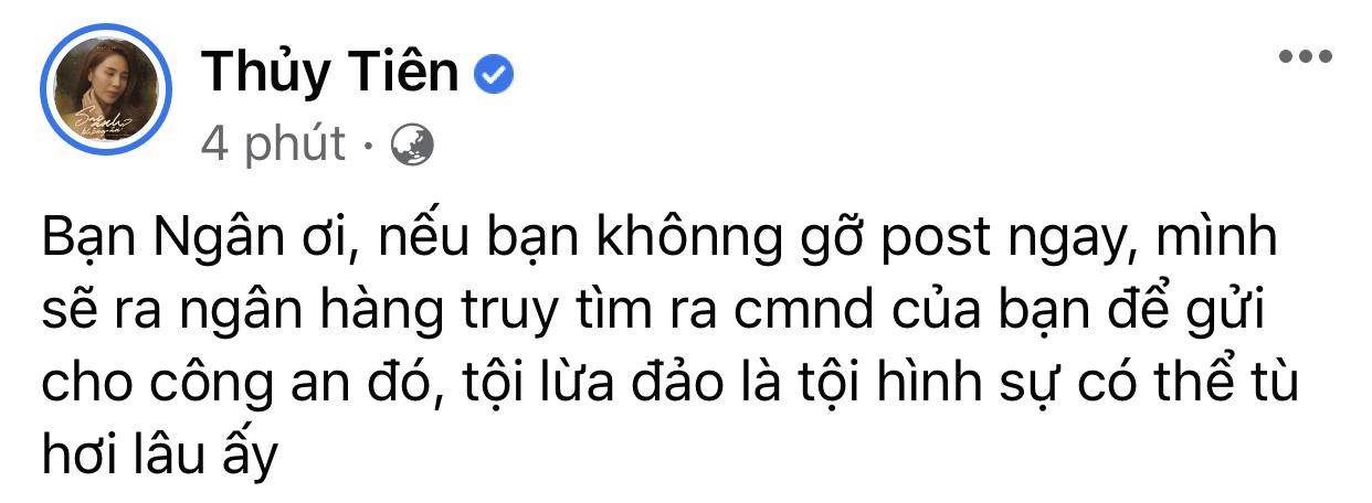 Cảnh báo: Xuất hiện Fanpage giả mạo Thuỷ Tiên kêu tiền từ thiện, nữ ca sĩ đích thân lên tiếng bày tỏ thái độ quyết liệt - Ảnh 3.