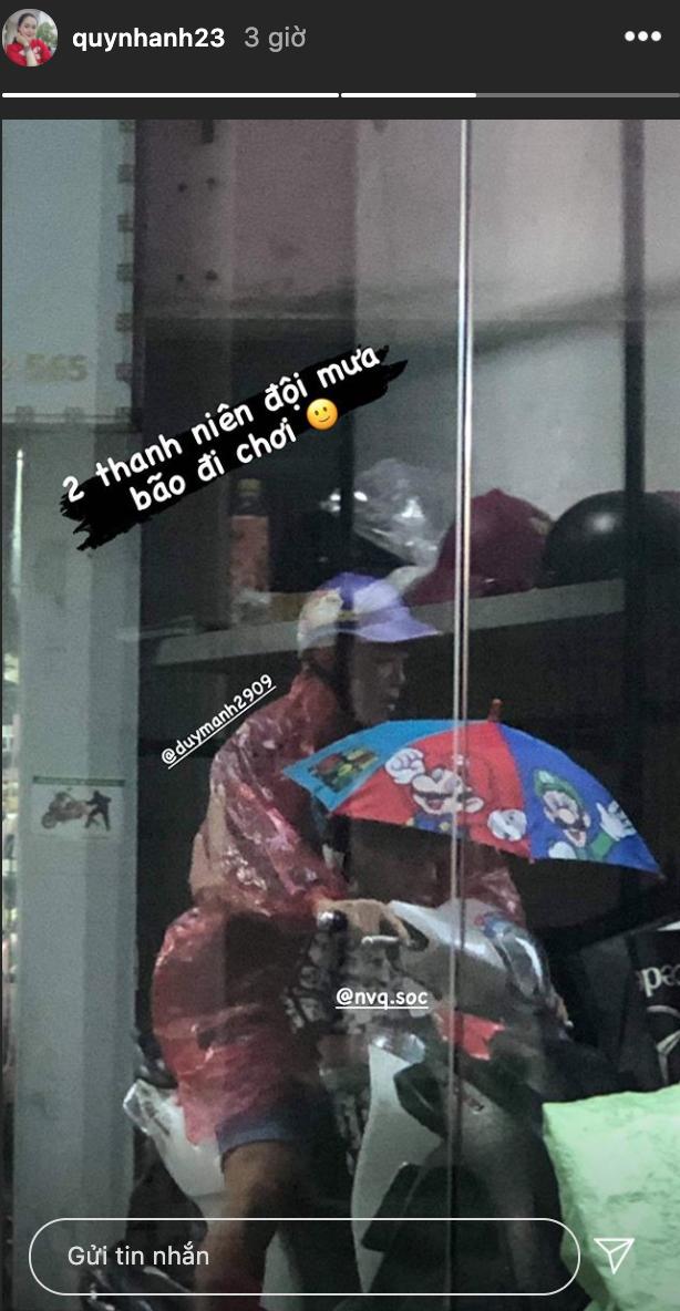 Quỳnh Anh kể bé Ú bị nhận nhầm là con gái khi đi tiêm phòng, tố Duy Mạnh đội mưa bão đi chơi - ảnh 3