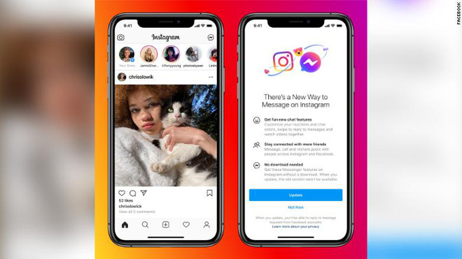 Facebook thực hiện cập nhật lớn đầu tiên trong kế hoạch liên kết Instagram, Messenger và WhatsApp - ảnh 1
