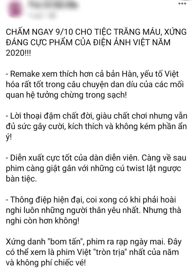 Netizen review nóng Tiệc Trăng Máu: Bom tấn Việt tròn trịa nhất năm, phim hay ăn đứt bản Hàn nha! - ảnh 2