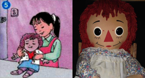 Netizen Việt thích thú khi phát hiện bà tổ búp bê ma Annabelle dạo chơi trong sách giáo khoa lớp 4  - Ảnh 5.