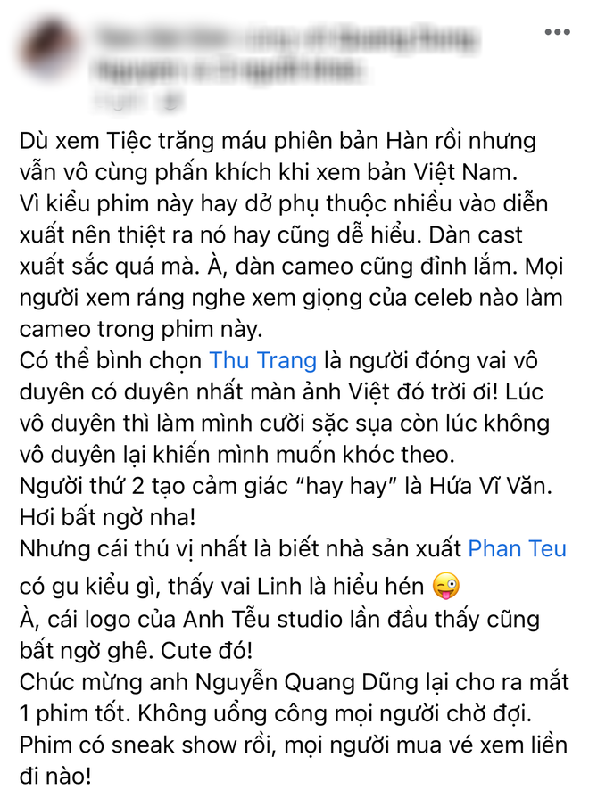 Netizen review nóng Tiệc Trăng Máu: Bom tấn Việt tròn trịa nhất năm, phim hay ăn đứt bản Hàn nha! - ảnh 5