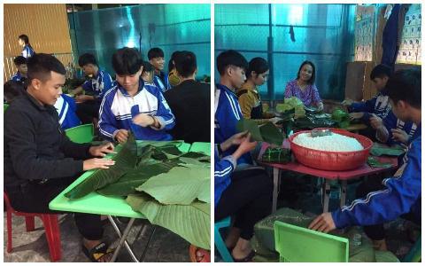 Học sinh cấp 3 Nghệ An dùng kinh phí tổ chức 20/10, thức thâu đêm gói bánh chưng ủng hộ bà con vùng lũ miền Trung