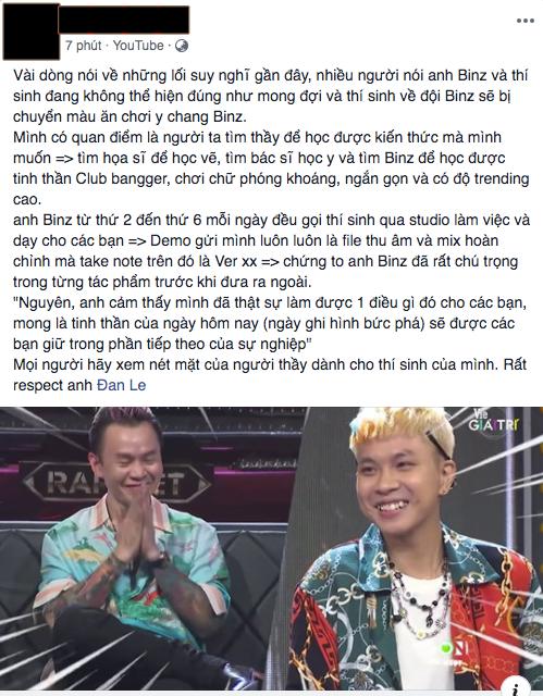Người trong ekip kể chuyện Binz gọi thí sinh đến studio mỗi ngày, tận tâm dạy và mix nhạc để mang đến sân khấu tốt nhất tại Rap Việt - ảnh 4