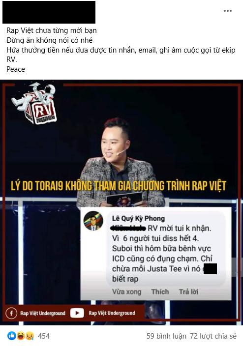Rhymastic và Wowy đáp trả cực gắt sau khi rapper Torai9 tuyên bố từng từ chối lời mời của Rap Việt, còn cà khịa JustaTee không biết rap - ảnh 4