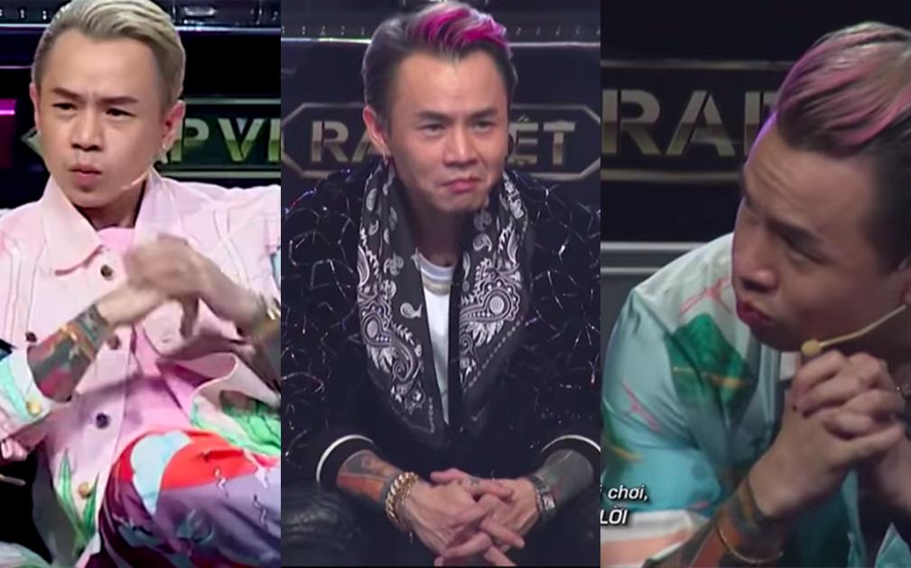 Suốt 3 vòng Rap Việt, biểu cảm của Binz khi xem GDucky biểu diễn rất đáng chú ý!