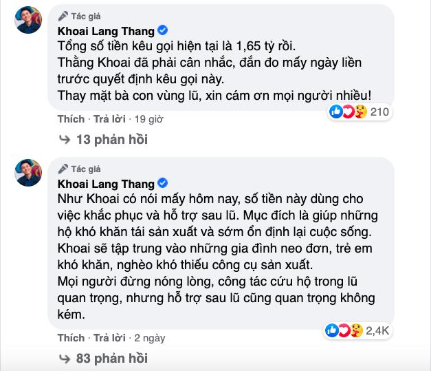 """Cả """"vũ trụ vlogger"""" cùng đồng lòng hướng về miền Trung: Khoai Lang Thang kêu gọi được 1,65 tỷ đồng, Bà Tân Vlog gửi thẳng 50 triệu ủng hộ - Ảnh 3."""
