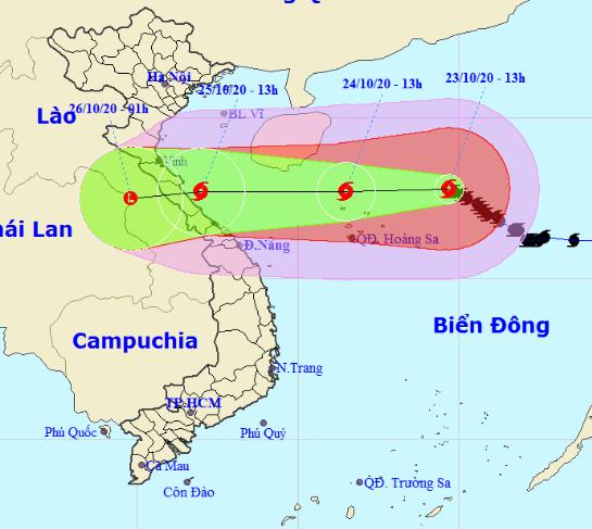 Tin bão mới nhất: Bão số 8 mạnh cấp 13 giật cấp 15 còn cách Hoàng Sa 280km, sẽ giảm cấp khi vào biển Hà Tĩnh - Quảng Trị - ảnh 1