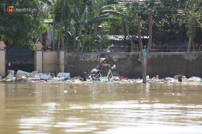 Ảnh: Người dân Quảng Bình bì bõm bơi trong biển rác sau trận lũ lịch sử, nguy cơ lây nhiễm bệnh tật - ảnh 6