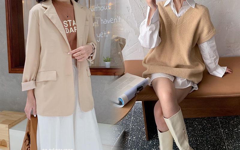 Sắm áo màu be, style của bạn chỉ có thanh lịch như gái Pháp hoặc sang xịn như gái Hàn trở lên