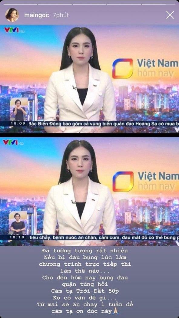 Mai Ngọc gặp tình huống éo le khi lên sóng trực tiếp, cách xử lý bình tĩnh của nữ MC khiến nhiều người nể phục - ảnh 1