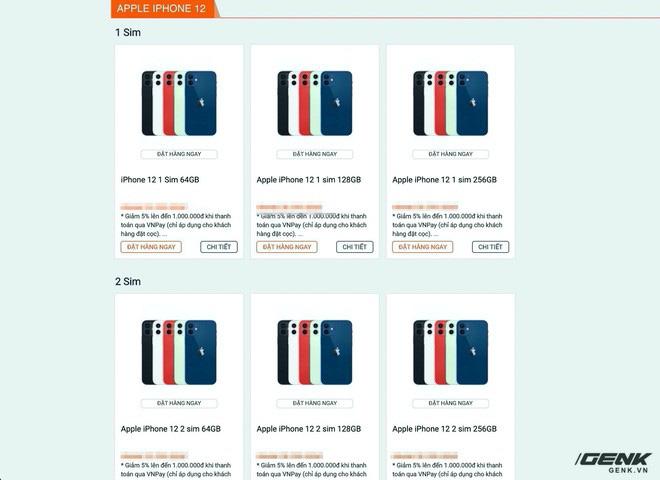 Website các cửa hàng lớn nhỏ rợp bóng iPhone 12 VN/A, thị trường xách tay đang nhạt dần? - ảnh 3