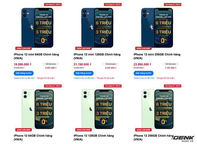 Website các cửa hàng lớn nhỏ rợp bóng iPhone 12 VN/A, thị trường xách tay đang nhạt dần? - ảnh 5
