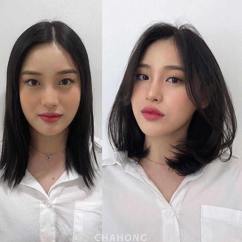 Gái Hàn có chiêu làm tóc biến mặt tròn thành thanh thoát, cực đơn giản chẳng cần ra tiệm - Ảnh 3.