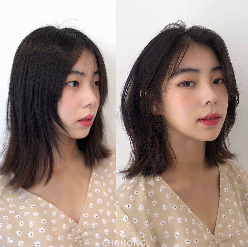 Gái Hàn có chiêu làm tóc biến mặt tròn thành thanh thoát, cực đơn giản chẳng cần ra tiệm - Ảnh 4.