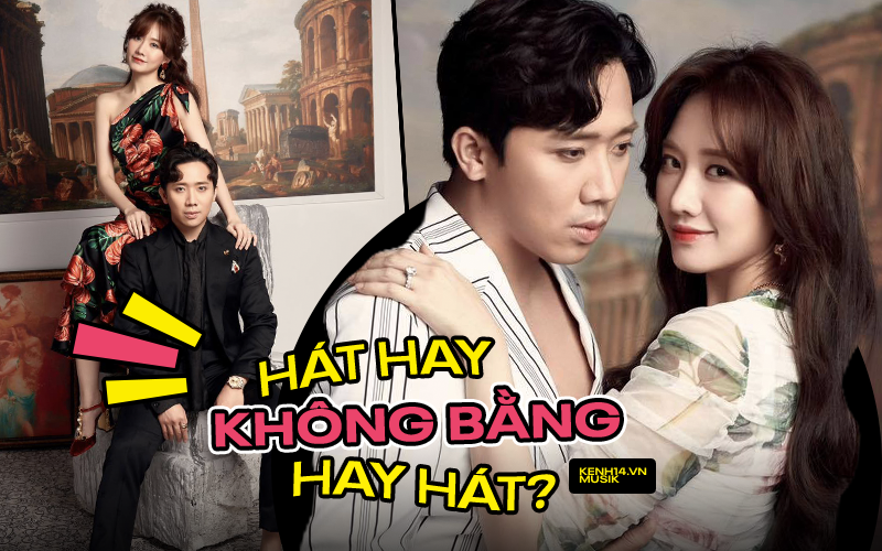 """Làm ca sĩ kiểu Trấn Thành - Hari Won: Chồng hát nghiêm túc bị chê """"giả trân"""", vợ cứ ra bài là dính tranh cãi phát âm"""