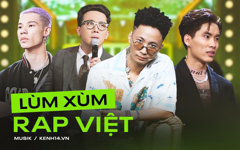 """Rap Việt thiếu gì tranh cãi: MC bị chỉ trích phát ngôn """"vớ vẩn"""", giám khảo """"cà khịa"""" show đối thủ đến thí sinh cũng chơi xấu, đạo nhạc?"""