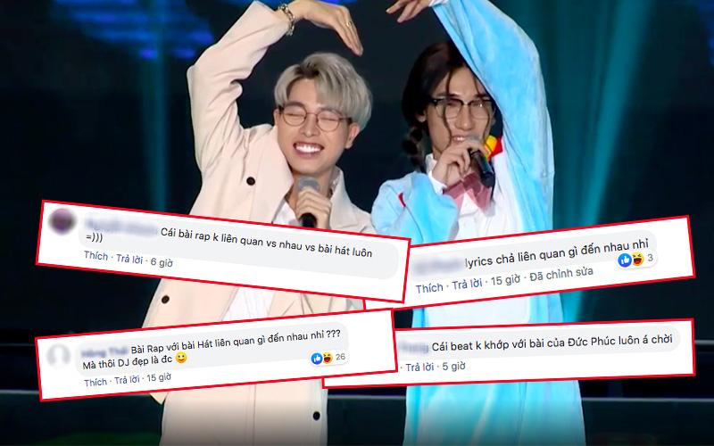 """Chị Cả (King Of Rap) kết hợp Đức Phúc khiến netizen nổ ra tranh cãi: Tiết mục """"lạc quẻ"""", cách rap như học sinh cấp 1 trả bài?"""