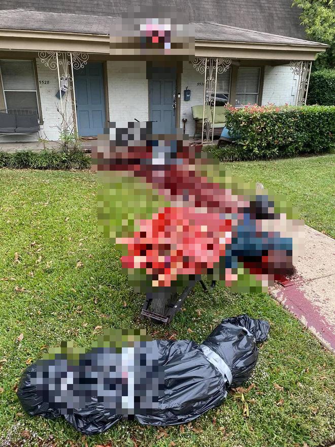 Trang trí nhà dịp Halloween có tâm quá mức, anh trai bị cảnh sát hỏi thăm suốt vì tưởng có án mạng - Ảnh 3.